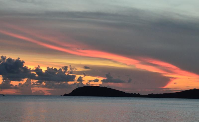 Sunset view from Havana Blue.
