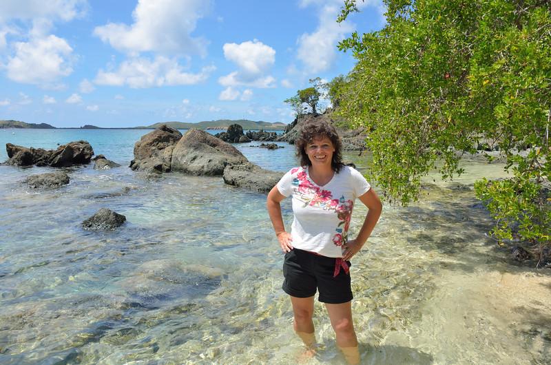 Lynne at Secret Harbor.