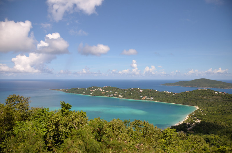 View from Mountaintop - Magens Bay.