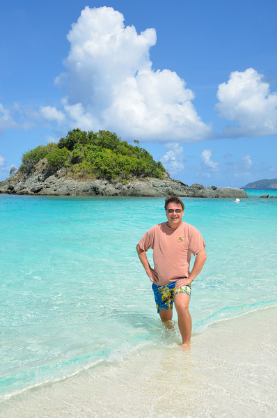 Stan at Trunk Bay.