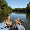 View from the paddleboat - Boley Lake
