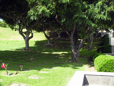 Punchbowl cemetery Honolulu Oahu Hawaii