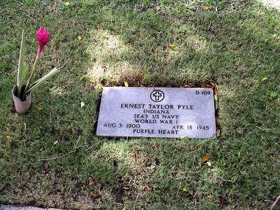 Punchbowl cemetery Honolulu Oahu Hawaii Ernest Ernie Taylor Pyle