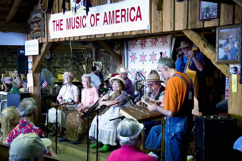 Pioneer village musicians