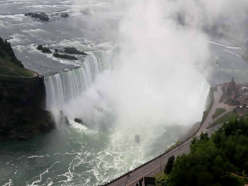 View of the Horseshoe Falls from the Skylon Tower.