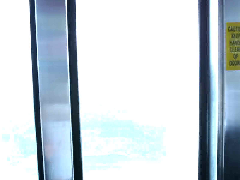 The elevator ride from the observation deck of the Skylon Tower.