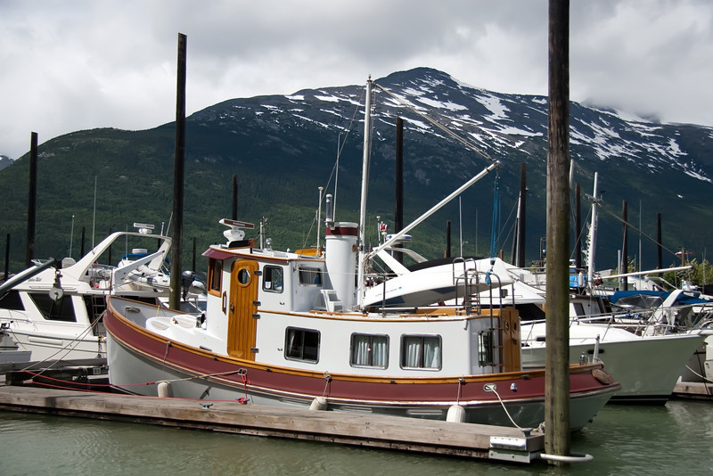 The marina at Skagway
