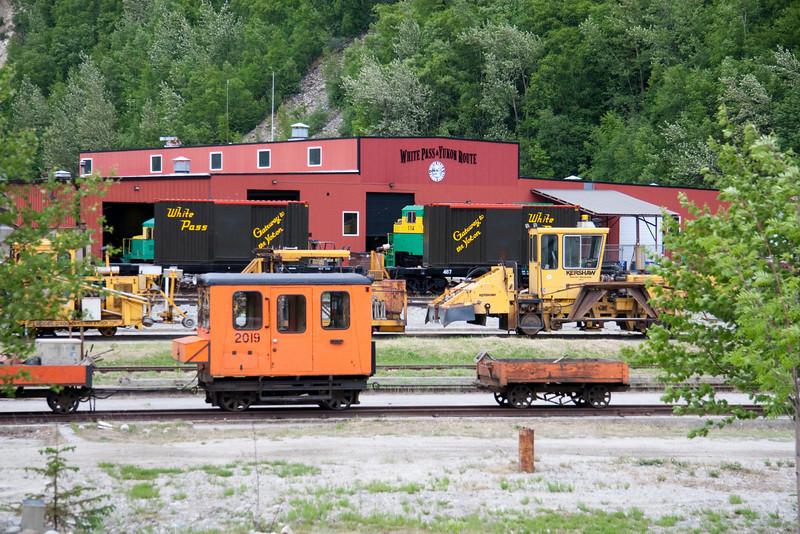 White Pass and Yukon yard