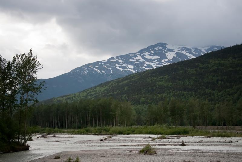 Braided river near Skagway Alaska