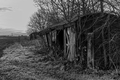 Old railway car between Shiptonthorpe and Londesborough
