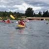 Kayaking on the Deschutes River