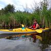 Taking a break, Kayaking on the Deschutes River