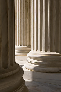 Pillars of Justice In late Spring 2008, we spent a week in Washington DC but could have spent 2 or 3 with ease. This photo was taken at the Jefferson memorial. It's a simple image that pleases me greatly.