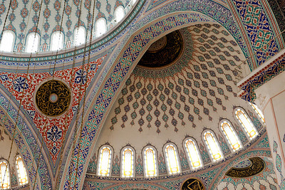 Kocatepe Mosque - Ankara Turkey Ankara was the first stop on our April Turkey trip in 2008. At one point we walked from the center of the city to our hotel, a distance of about 3 - 4 miles past a new modern mosque. The mosque, which shared the design of traditional mosques, was beautiful. Richly decorated, it demonstrates that Christianity has not cornered the market on ornate buildings built to the glory of God.