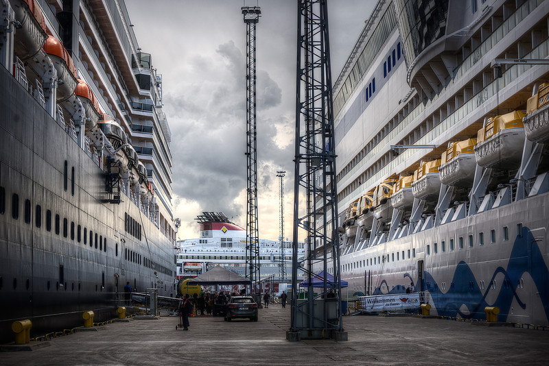 I love this photo - it lets me feel these massive ships ... the one on the left I called home for a couple of weeks.