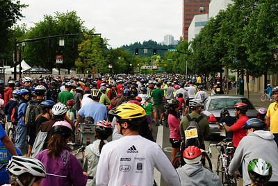 Start Line  2011 Bridge Pedal Portland, Oregon