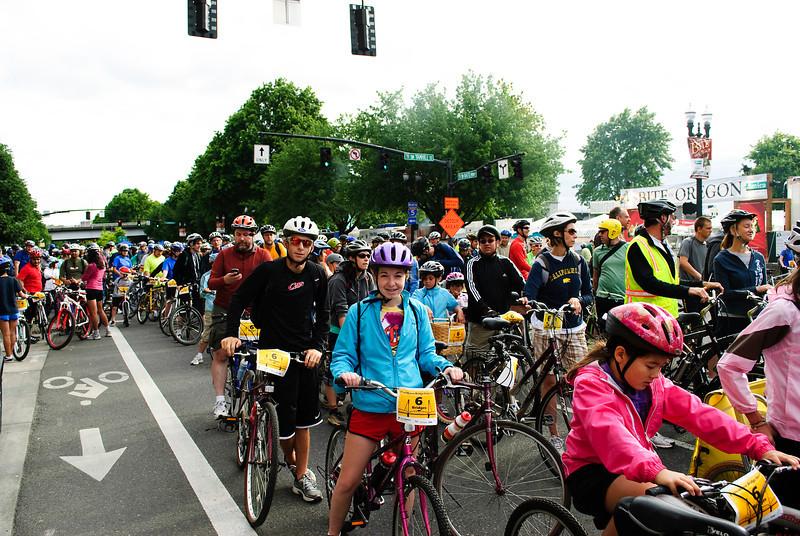 Start Line  2011 Bridge Pedal Portland, Oregon