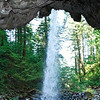<b>Ponytail Falls from the back side</b><br>Columbia Gorge <br>8-14-10