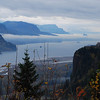 <b>Crown Point, Columbia Gorge </b><br>Normally this is a spectacular view from here, so I wasn't going to even stop on this cloudly November morning.  Then I noticed the low-hanging clouds shrouding the gorge all the way up the river...so I hit the brakes, did a quick U-turn and went back to the Women's Forum viewpoint for this shot.