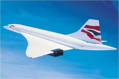Concorde: Image courtesy British Airways.