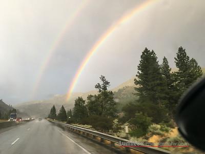 A Double Rainbow followed me almost all the way down 80 from the summit to Reno.