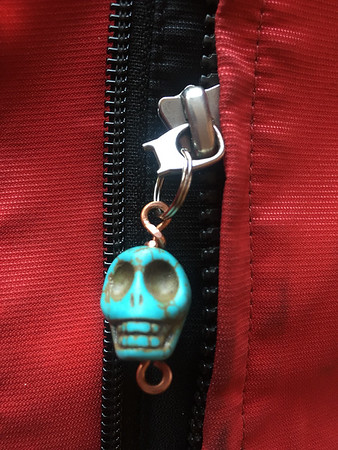 Makeshift Zipper Pull on my Motorcycle Jacket