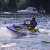 Jet skiing on the Willamette River