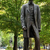 Statue of Abraham Lincoln,<br /> South Park Blocks <br /> Portland, Oregon <br /> (Theodore Roosevelt statue in background)