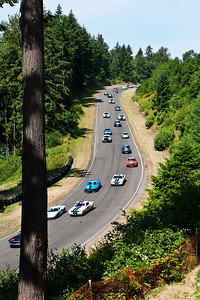 The Pacific Raceways circuit is a challenging 2 ¼-mile road course that includes nine turns, a 300 foot elevation drop and a near ¾-mile straightaway. After turn one, the course descends into a wicked S-Curve ... coming up.