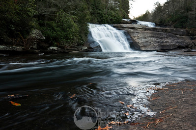 Middle Triple Falls on the Little River in Dupont State Forest.