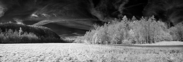 Meadow at Cataloochee, Great Smoky Mountains National Park.  830nm Infrared.