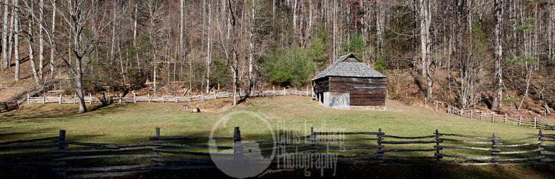 Historic barn at Cataloochee, Great Smoky Mountains National Park.
