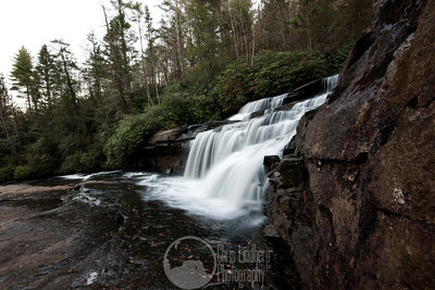 Upper Triple Falls on the Little River in Dupont State Forest.