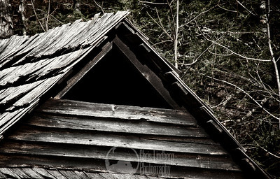 The point of a barn at Cataloochee, Great Smoky Mountains National Park.