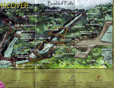 The Bushkill Falls Trail Map