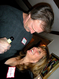 Okay, Barb, next time you want a smooch from a big guy like Steve, bring a chair.  This is just plain silly!