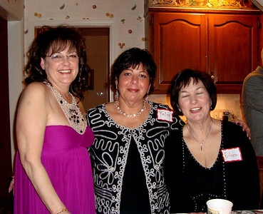 Okay, so they're not the Three Musketeers.  Nevertheless, Cherié, Felice and Eileen are enjoying the night.