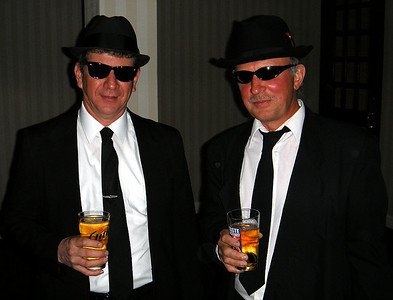 The Blues Brothers...Mike and Stanley.  What is this, Keystone Gangsters?