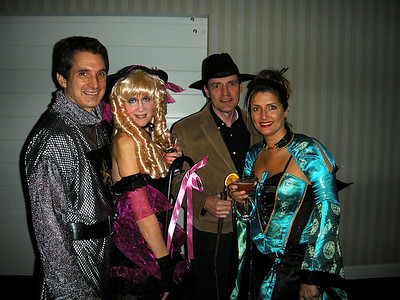 Mike the horseless silver knight...Judy the Goldilocks Vamp...Tom the gangster, or just a guy that owns a hat, and Kim the blue Geisha girl.  If I had a Geisha, Kim could definitely borrow it anytime she wants!