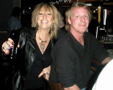 Sandy, the lead singer of The Dirty Blondes and her friend Wayne.  He's still in awe.  I don't blame him.  I am too.