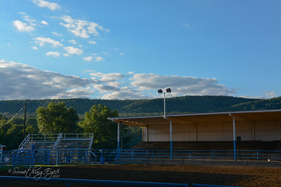 The Mountainville Springs Rodeo Arena at Twilight
