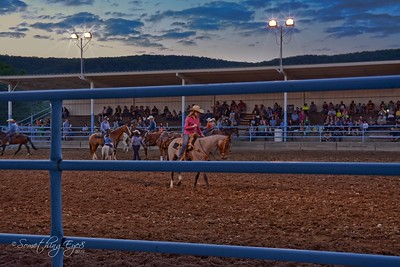 Some close friends enjoy the Rodeo at Mountain Springs in Shartlesville, Pa.    This is a hybrid picture that required 3 different software packages to create and is close to the picture I saw, which is the only reason, in my opinion, to use all that software.   August 22nd, 2015