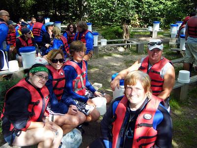 Raft-mates - Theresa, Mary Lou (who?), Ryan, Chris and Kevin the bear.
