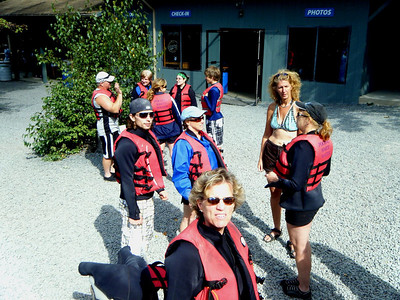 The River Rafting Adventurers start to gather