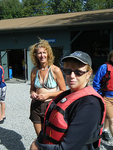 Kim and Joni waiting for Water Sports III to begin