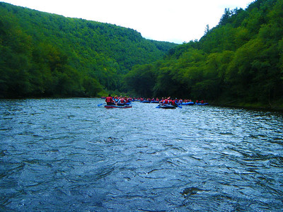Floating down the Lehigh Gorge