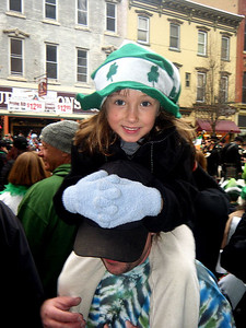 Little girl...Big Hat.  The moment I asked if I could take her picture she pushed her dad's hat down over his face.  There's only ONE STAR in this duo.  Dad's just one more supporting actor.  Get used to it, Dad!