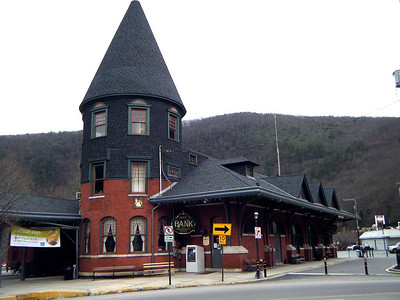 The Bank and Train Station...  A symbiotic relationship.  Neither could stay in business without the other.