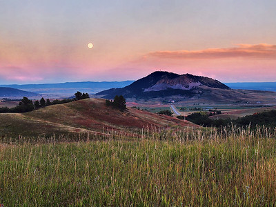 Moonrise Over Sundance Mountain