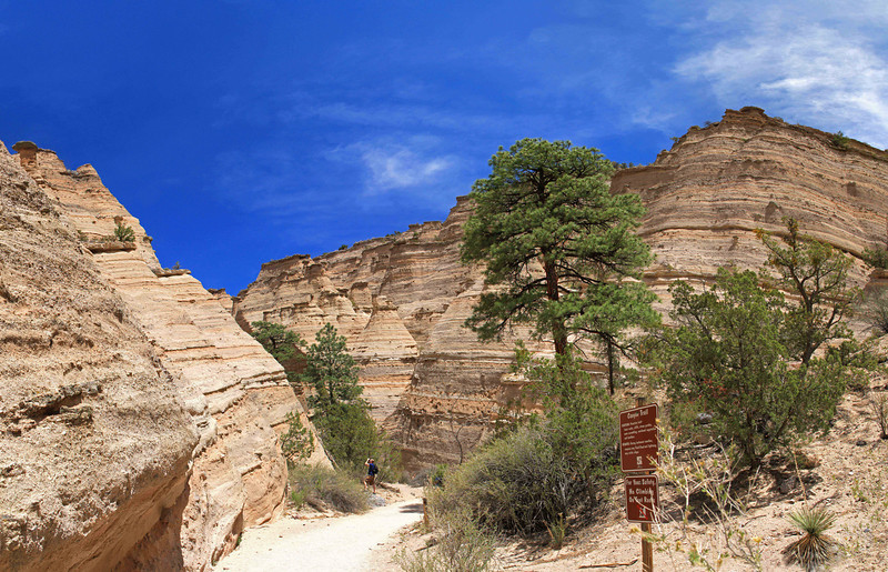 Formations at Tent Rocks National Monument, near Santa Fe, NM.